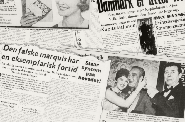 Collection of older newspaper clippings