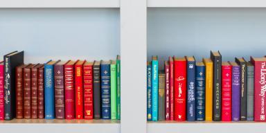 Bøger på reol