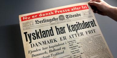Avisforside Berlingske Tidende. Befrielsesbudskabet maj 1945