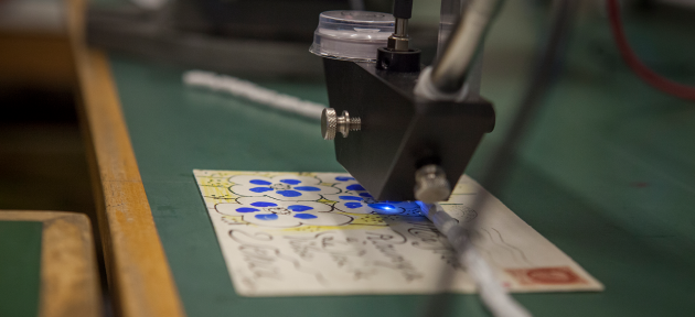 Microfadingundersøgelse af postkort